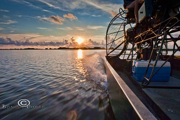 Trying to Make it Home before Sunset - Cedar Key Florida - Photo by Pat Bonish