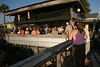 They Were lined up out on the Dock during the Raffle - Hideaway Tiki Bar Full Moon Party