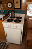 Mint Condition Davis Stove-Refrigerator Combo in a 1955 Trotwood Cub Coach - Tin Can Tourists Visit Cedar Key Florida - Photo by Pat Bonish