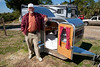 Lawrence Perry and his Homemade Teardrop Trailer - Tin Can Tourists visit Sunset Isle Campground, Cedar Key Florida