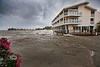 High Tide brought in lots of water to Cedar Cove - Tropical Storm Andrea hits Cedar Key Florida - Photo by Pat Bonish