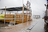 Tidewater Tours Boat Dock getting washed over as Tropical Storm Andrea comes Ashore in Cedar Key Florida - Photo by Pat Bonish