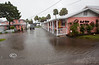 The Gulf Side Motel with water covering their parking lot  Luckily it never got high enough to get into the rooms - Photo by Pat Bonish