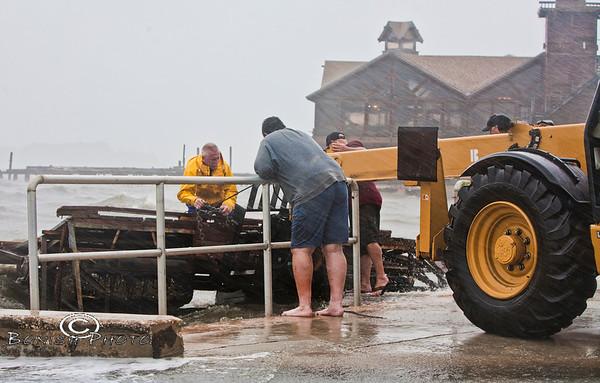 Tropical Storm Debby Hits Cedar Key - June 2012