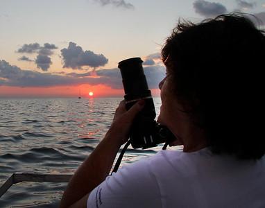 Judi catching a sunrise.:)