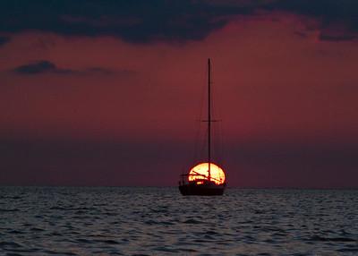 sunrise at Cedar Key