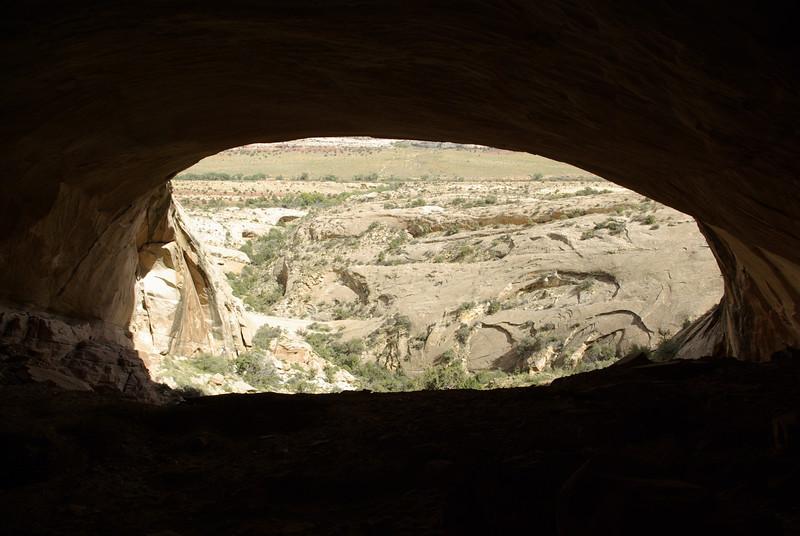 Inside Fish Mouth Cave, Comb Ridge