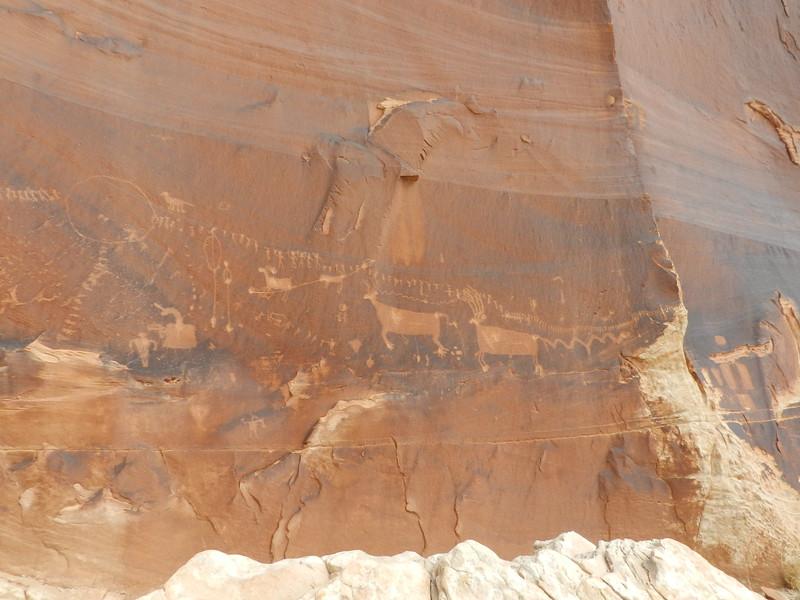 Procession Petroglyph Panel, Comb Ridge