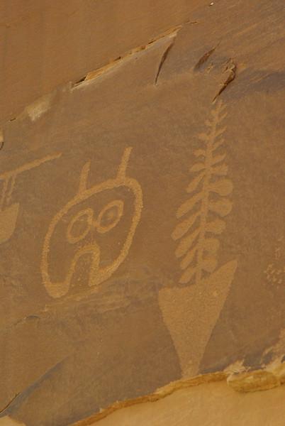 Petroglyphs, Wolfman Panel, Butler Wash