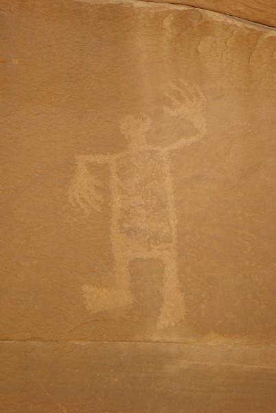 Wolfman Petroglyph, Butler Wash