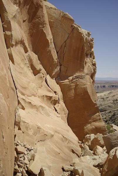 Sandstone Walls, Procession Panel Area, Comb Ridge