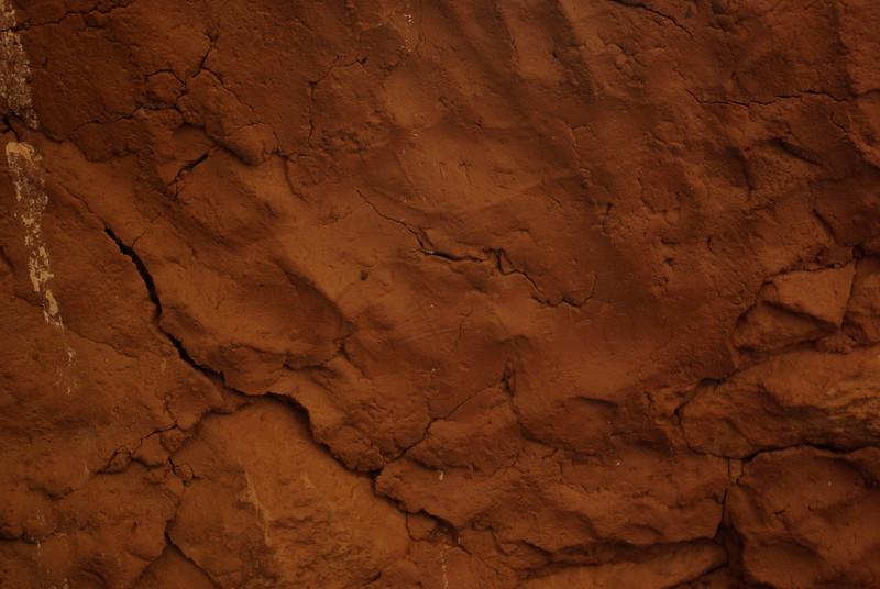 Prehistoric Hand Print, Moon House Ruin