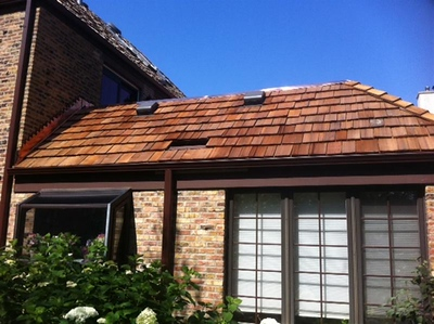Cedar Shake Roof and Copper Installation
