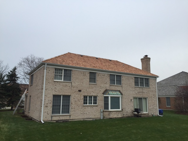 Cedar Roof with K-Style Gutters - Glenview IL