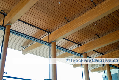 1001 - Prince George Airport - Cedar soffits and ceiling