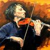 """Portrait of Joshua Bell"" (acrylic) by Lanny Sherwin"