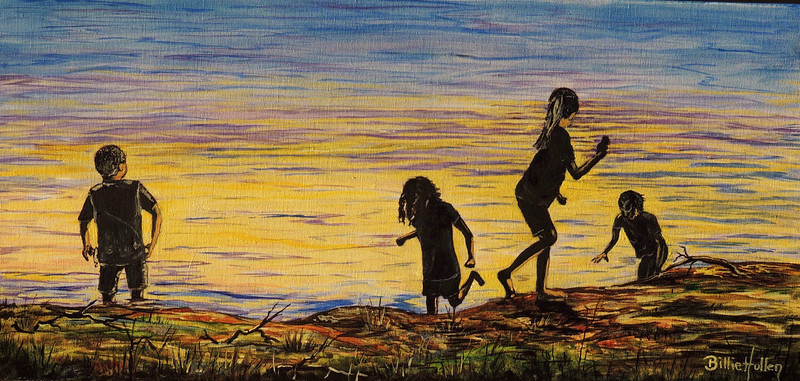 """""""Child's Play"""" (oil on canvas) by Billie Hollen"""