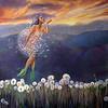 """Dandelions"" (Oil on canvas) by Adriana Hernandez"