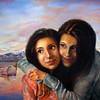 """Twins"" (oil on canvas) by Adriana Hernandez"