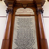 Memorial Hall in the Thayer Memorial Library in  Lancaster is celebrating 150 years.This very big plaque was once in the hall but now is in a room that was added on next to the hall.  SENTINEL & ENTERPRISE/JOHN LOVE