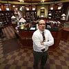 Memorial Hall in the Thayer Memorial Library in  Lancaster is celebrating 150 years. Director of the library Joe Mulé stands in Memorial Hall on Wednesday afternoon. SENTINEL & ENTERPRISE/JOHN LOVE