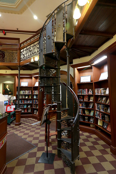 Memorial Hall in the Thayer Memorial Library in  Lancaster is celebrating 150 years. A view of the hall. SENTINEL & ENTERPRISE/JOHN LOVE