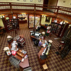 Memorial Hall in the Thayer Memorial Library in  Lancaster is celebrating 150 years. A view of the hall from the second floor. SENTINEL & ENTERPRISE/JOHN LOVE