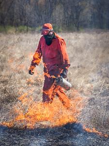 Lake Farm Park Prairie Burn