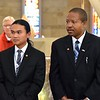 Frater Paul Phong Hoang and Candidate Kenneth Anyanwu of the Dehonian formation program