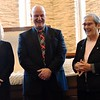 """Representatives from St. Joseph's Indian School (Kim and Mike Tyrell and Mary Jane Alexander) talked about the """"Pope of Chamberlian, SD"""""""