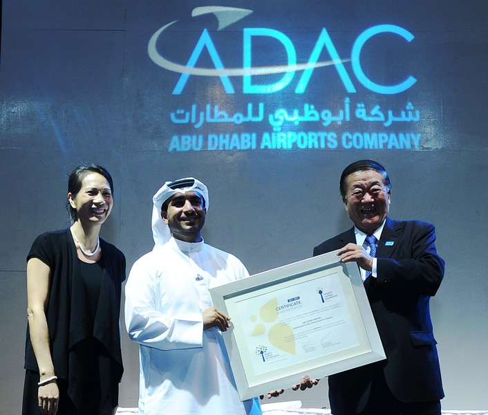2011-4 Abu Dhabi Airport receiving the 1st Airport Carbon Accreditation certificate in November 2011