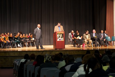 Fayette County Commission Chairman Steve Brown reads the county's Martin Luther King Jr. resolution
