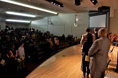 A large crowd celebrates Martin Luther King Jr. in Fayetteville, GA