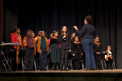 Children's choral group and soloist
