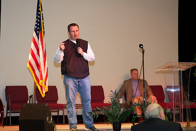 State Representative Matt Ramsey speaks with the delegates