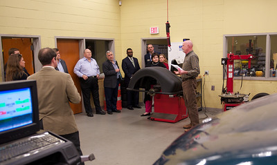 Automotive lab, trains with test, measurement, and diagnostic equipment and repairs automobiles.