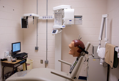Dental X-ray lab, where students learn how to, and take, X-rays to assist diagnoses