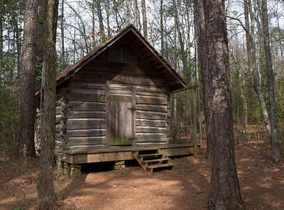 Out building by the 1830s pioneer cabin