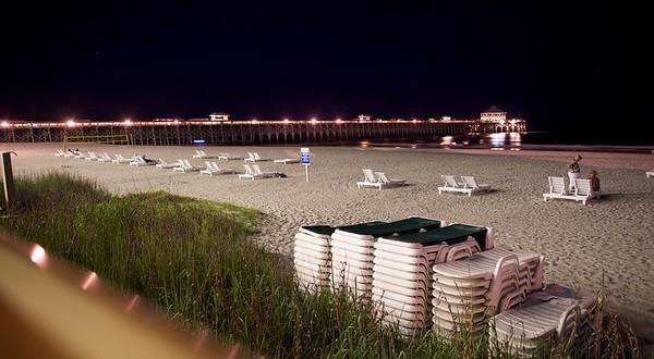 The pier at Folly Beach, SC
