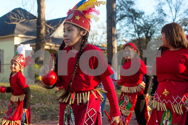 The St. Peter Claver Parish's parade in recognition of the Feast Day of Our Lady of Guadalupe in Tyler, Texas, on Sunday, Dec. 10, 2017. (Chelsea Purgahn/Tyler Morning Telegraph)