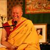 Gen Thekchen, the NKT National Spiritual Director gives Medicine Budddha Empowerment on Saturday.