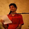 Kadam Olivier translates Gen Thekchen's teachings into French.