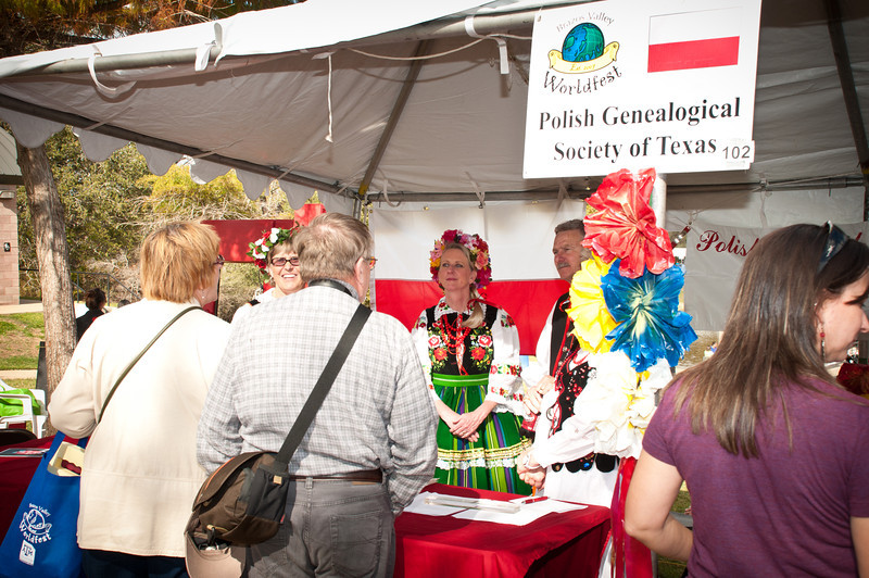 Sharing Polish heritage at the PGST booth.