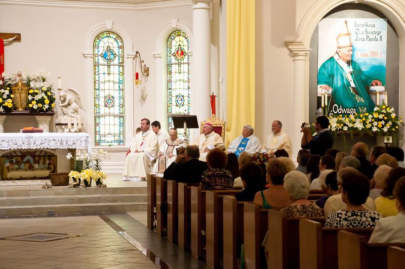 Beatification of Pope John Paul II Mass In Houston Texas