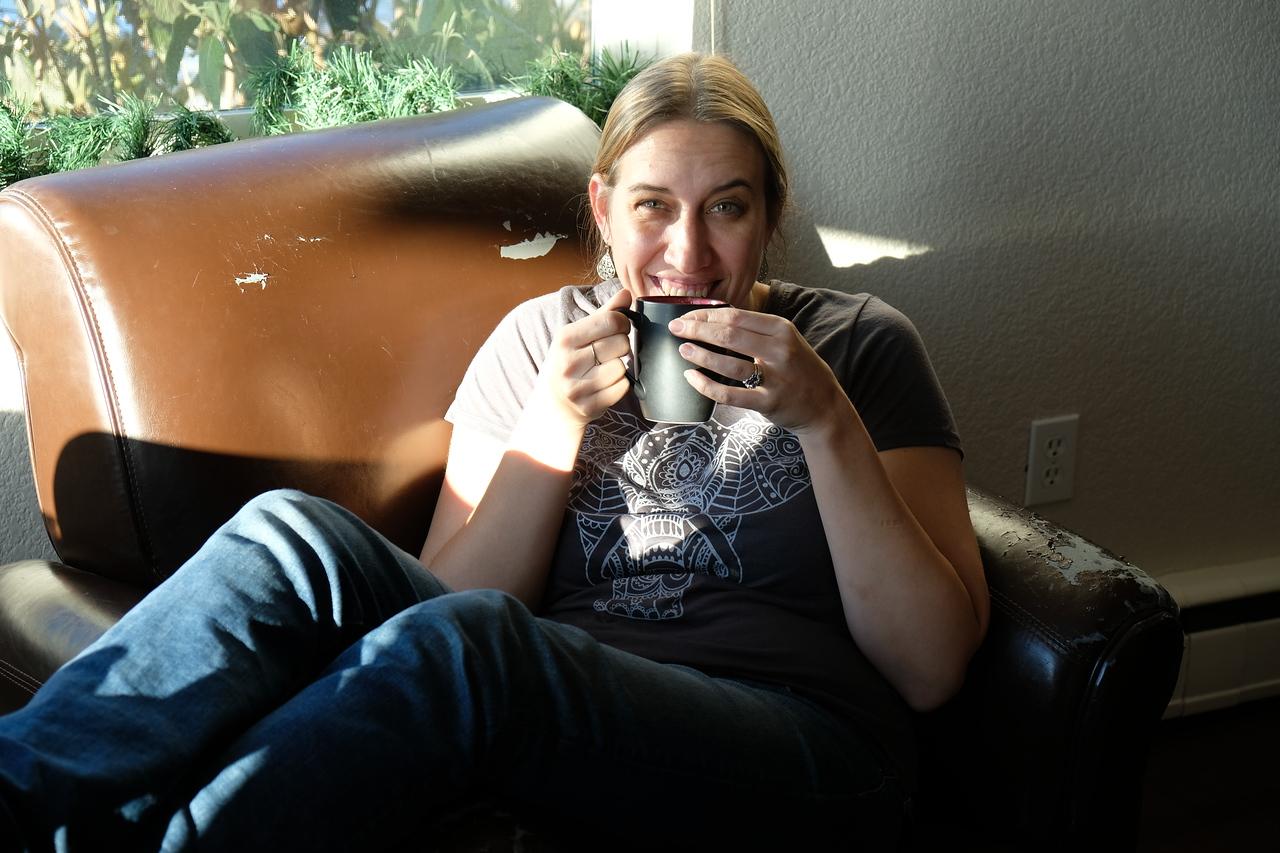 Warm nog with coffee