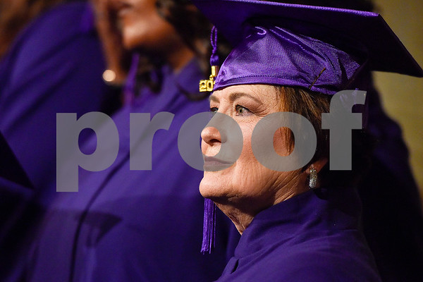 Patricia Taylor poses for a photo during a graduation ceremony for students with the Christian Women's Job Corps of Tyler at First Baptist Church in Tyler, Texas, on Tuesday, May 2, 2017.The nearly 60 graduates participated in a ten-week program with the nonprofit, whose mission is to equip women with job skills and life skills in a Christ-centered environment. (Chelsea Purgahn/Tyler Morning Telegraph)
