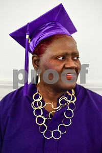 Margaret Campbell poses for a photo during a graduation ceremony for students with the Christian Women's Job Corps of Tyler at First Baptist Church in Tyler, Texas, on Tuesday, May 2, 2017.The nearly 60 graduates participated in a ten-week program with the nonprofit, whose mission is to equip women with job skills and life skills in a Christ-centered environment. (Chelsea Purgahn/Tyler Morning Telegraph)