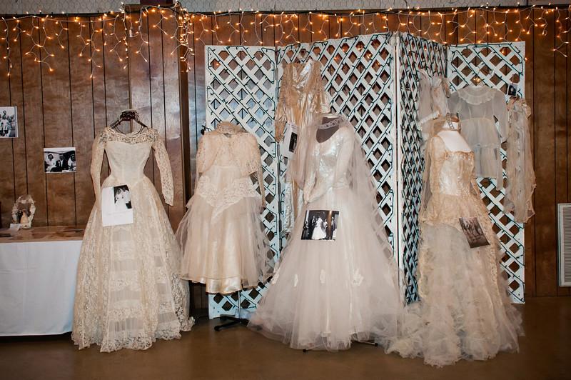 Wedding dress display from Bremond brides