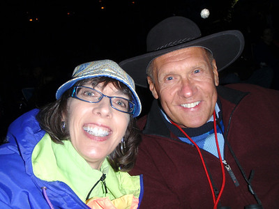 Jenny and Dennis bundled up at the concert!