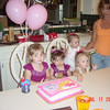 Abby, Livi, Bailey & Brinley wait for cake!